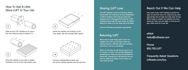 LUFT Instruction Pamphlet 1