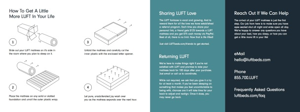 LUFT Instruction Pamphlet 1